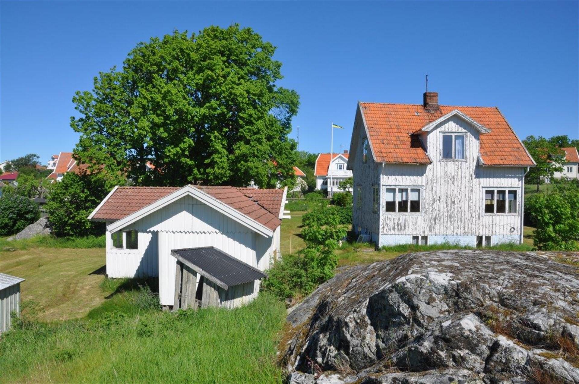 Trdägården och de två byggnaderna