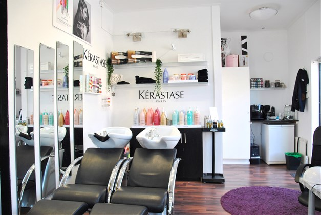 Del av frisörsalongen