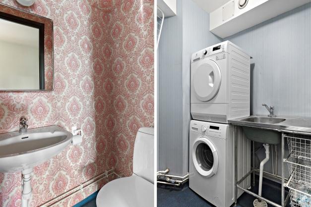 Gäst WC och tvättstuga