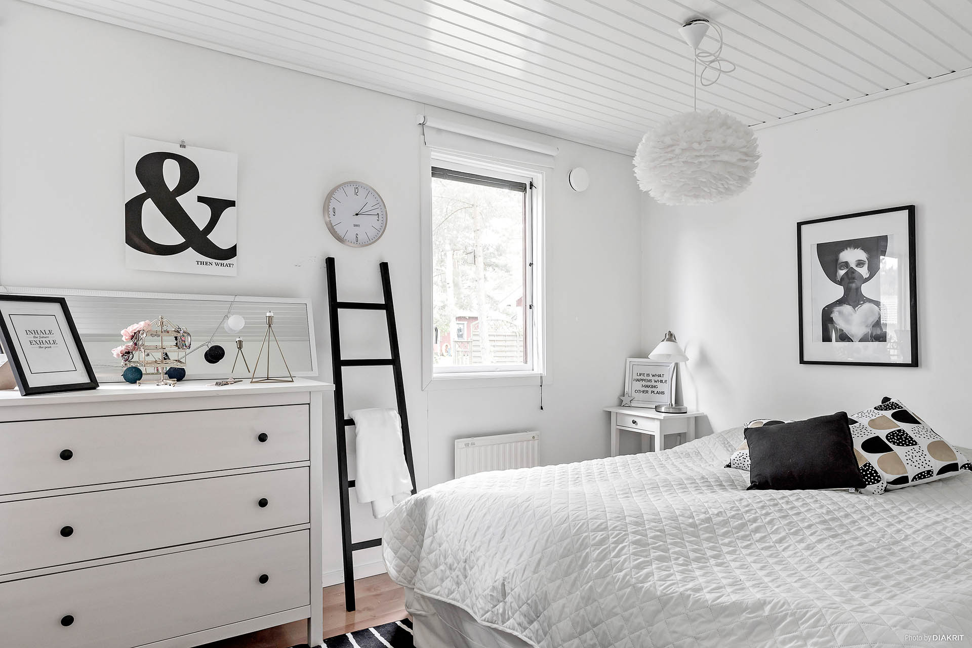 Stort sovrum som enkelt kan byggas om till två.