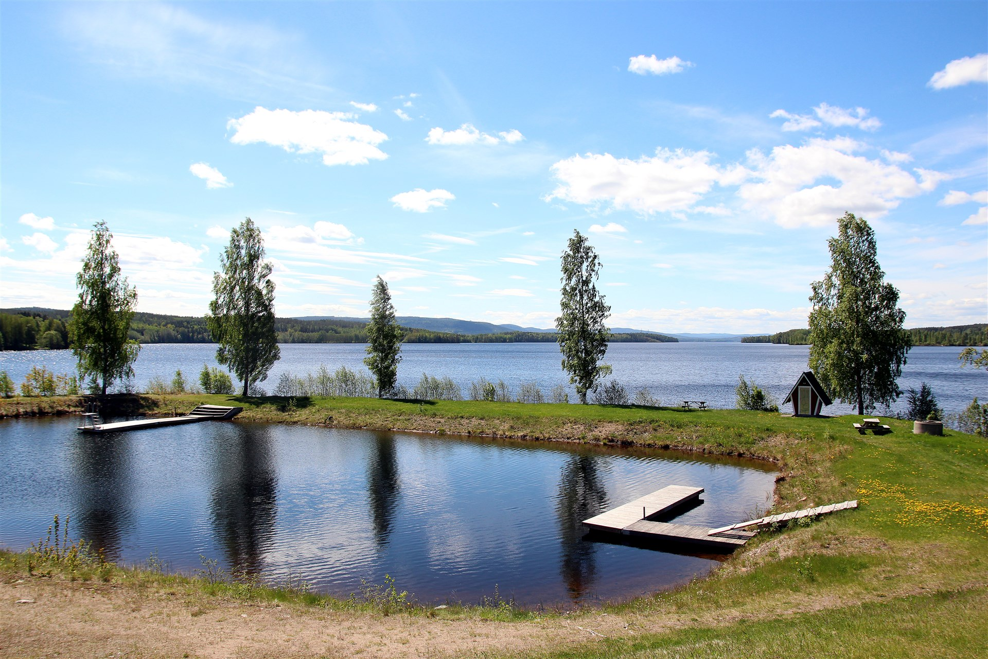 Områdesbild, Badkullen - Badplats i Bergvik