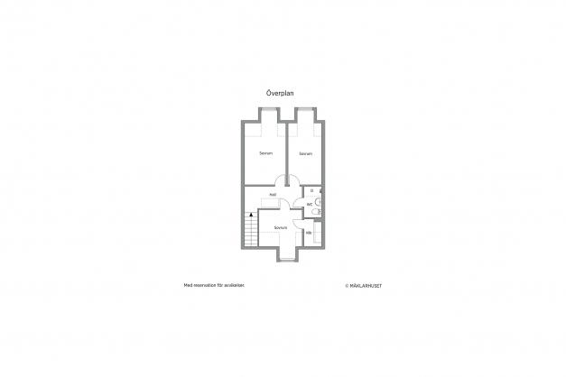 Planritning övervåning, 2D