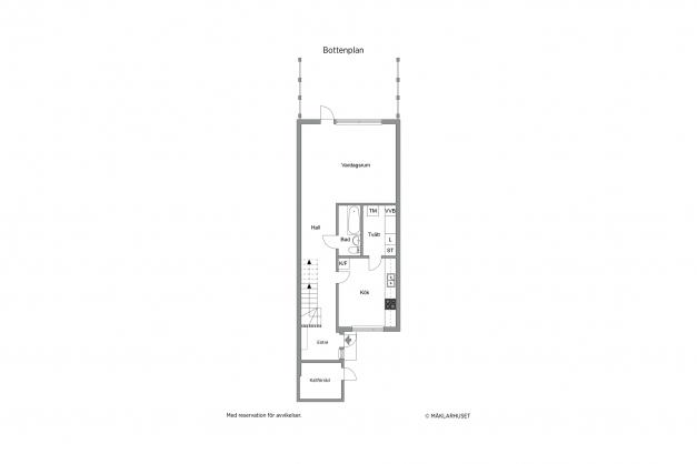 Planritning bottenvåning, 2D