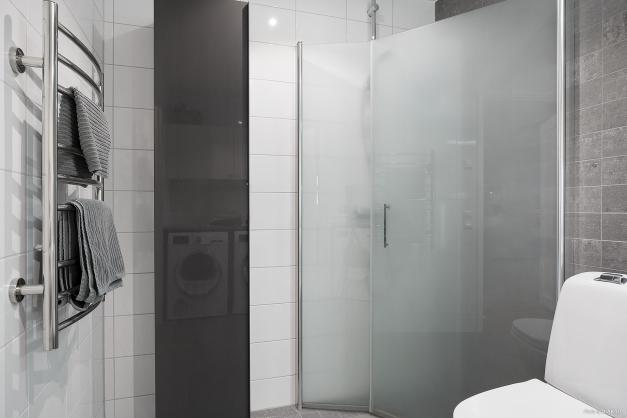Handdukstork och golvvärme för skön komfort