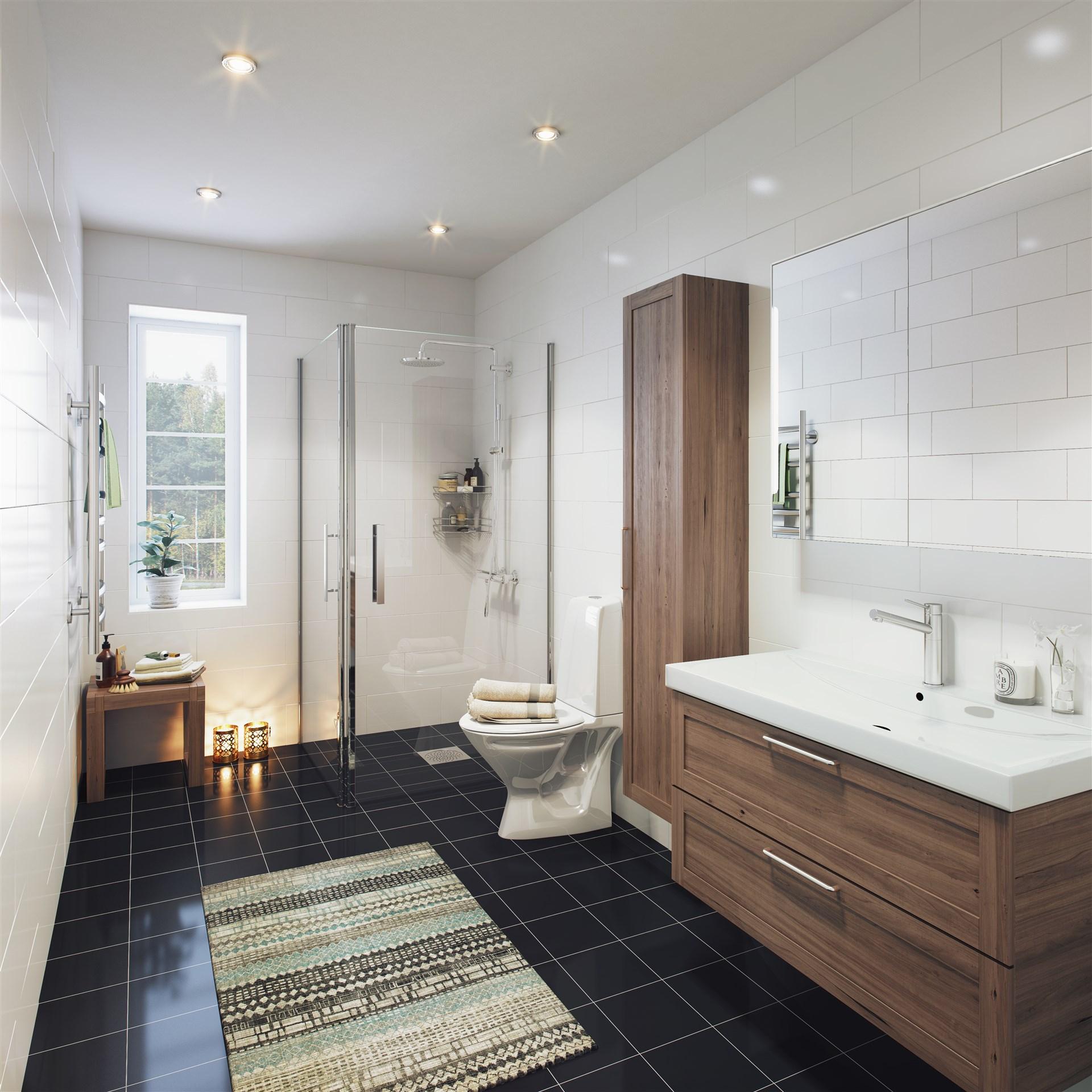 Illustrationsbild badrum på övre plan