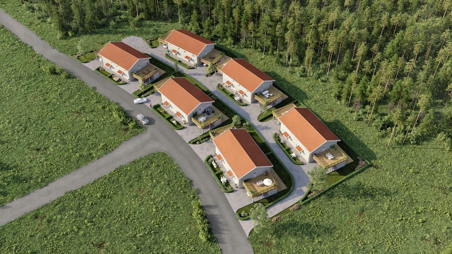 Brf Briggskutan byggs i Bredsand, Etapp 4 som heter Nedre Bredsandsskogen