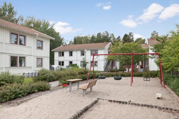 Lekplats utanför den egna bostaden
