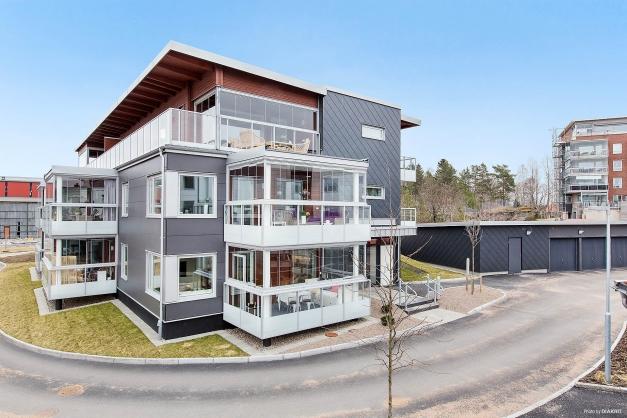 Nybyggt bostadsrättshus färdigställt 2017.