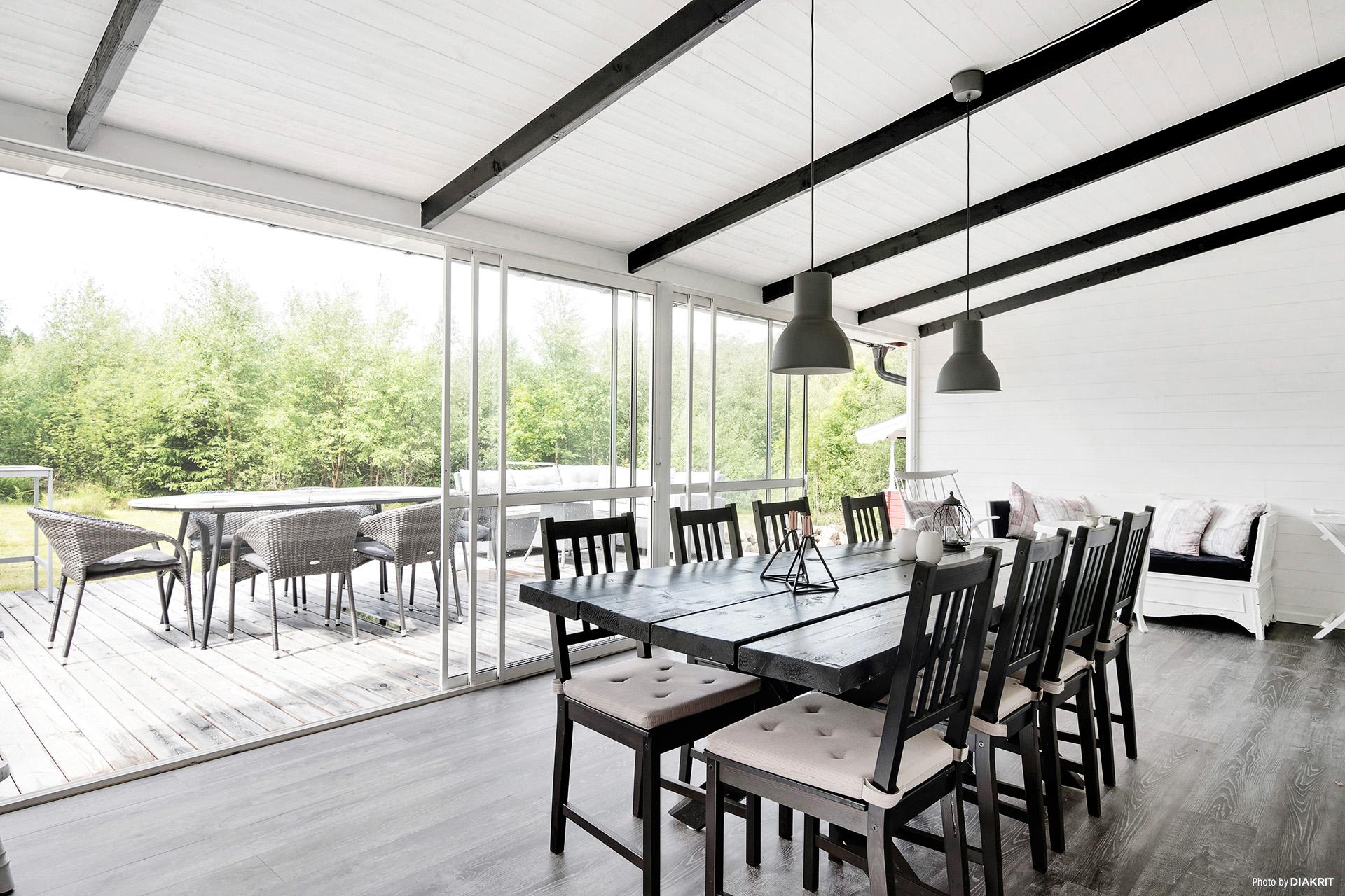 Öppningsbara fönsterpartier som ger känslan av att vara utomhus