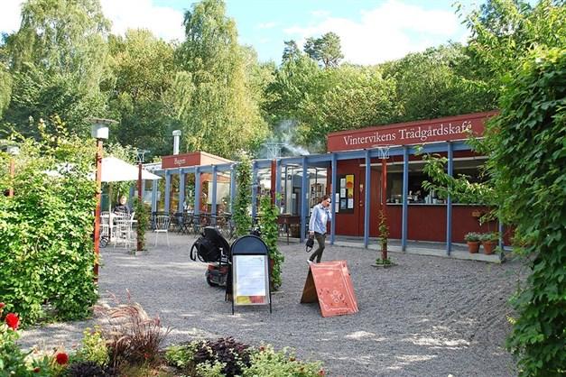 Vintervikens trädgårdscafé.