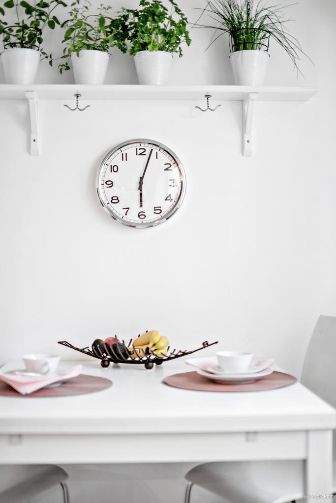Detalj i köket. Bra att ha koll på klockan