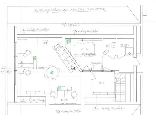 Planritning - förslag till möblering