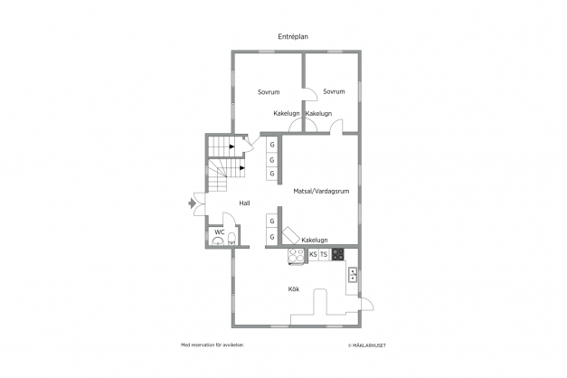 Planlösning entréplan vita huset