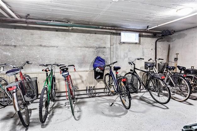 Föreningens cykelrum