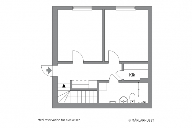 Planskiss entréplan / ovanvåning