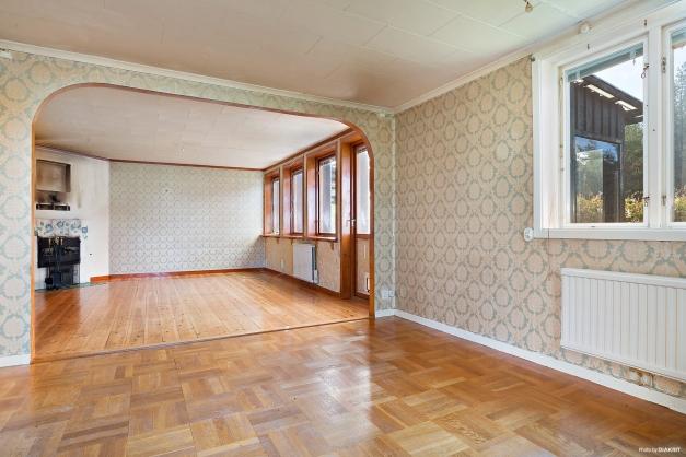 Matrum öppet mot vardagsrum