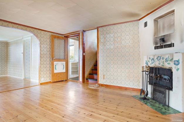 Vardagsrum och matrum i fil