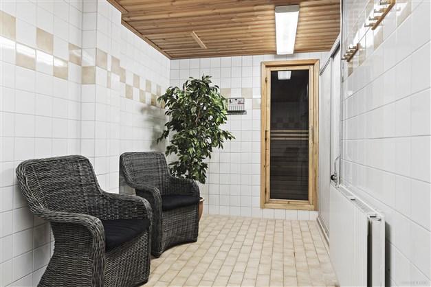 Relaxavdelning med bastu  - Föreningens gemensamma utrymme