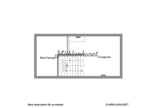 Övre plan med takterrass