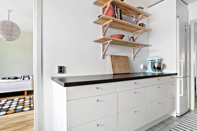 Bra arbetsytor och förvaring i köket