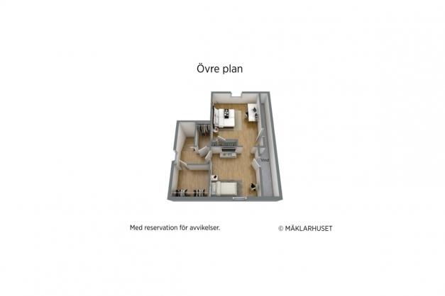 3D planritning - övre plan.