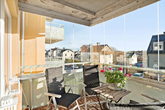 Härlig inglasad balkong