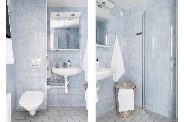 Stambytt badrum i fint skick.