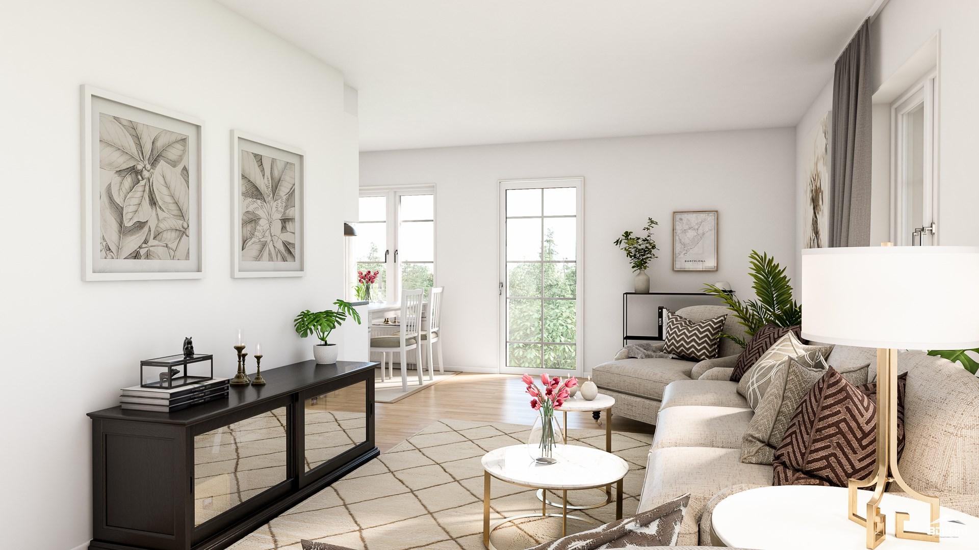 Vardagsrum i en 2:a Bilderna är illustrationer och avvikelser kan förekomma.