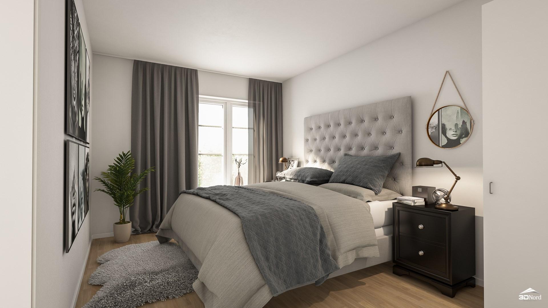 Sovrum i en 2:a Bilderna är illustrationer och avvikelser kan förekomma.
