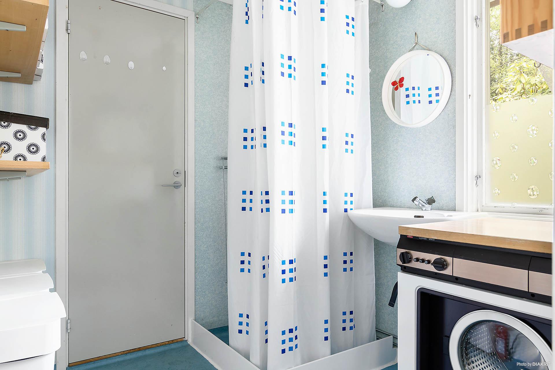 Tvättstuga med dusch