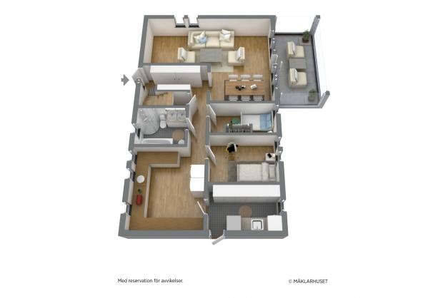 Planritning plan 1 3D