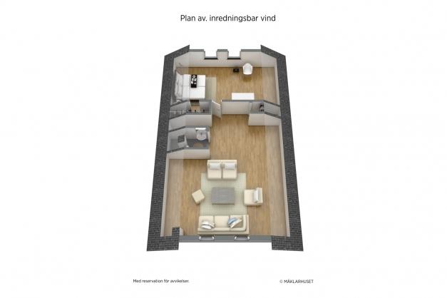 Planritning plan 2 3D