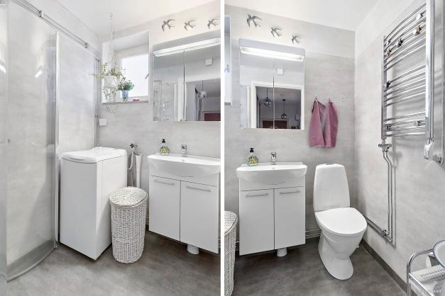 Fräscht duschrum, renoverat 2018