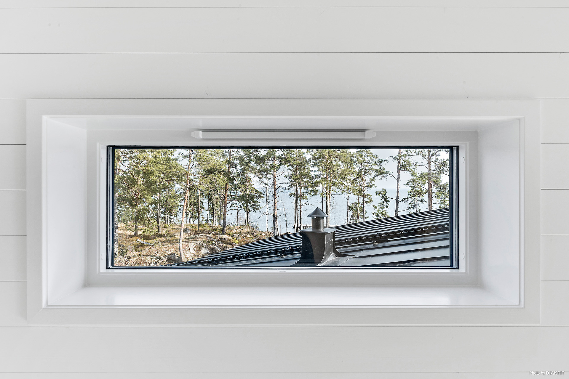 Fönster med havsutsikt, allrum övervåning