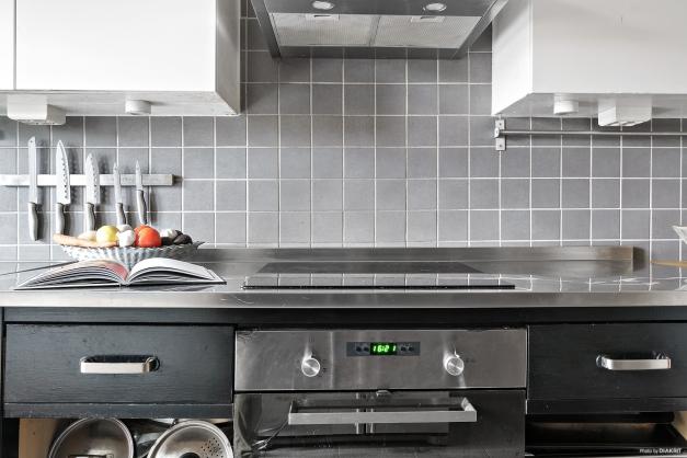 Modernt kök med modern maskinpark