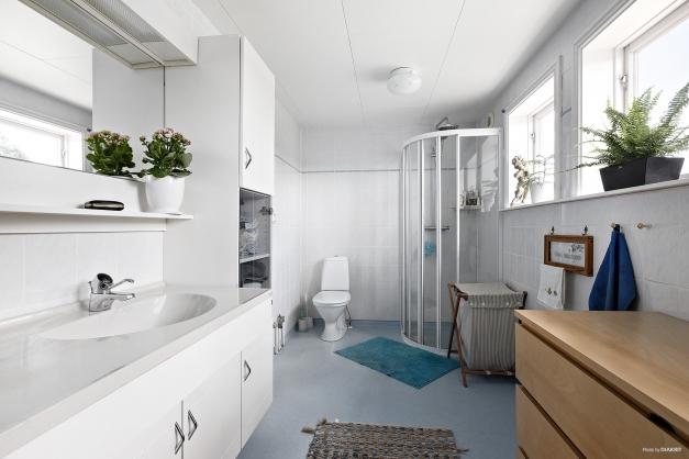 Toalett/dusch i ovanplan
