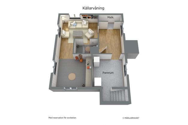 Möblerad Källarvåning