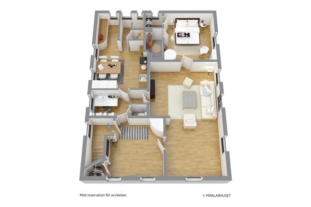 Planlösning lägenhet vån 2