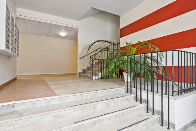 Pampig trappuppgång