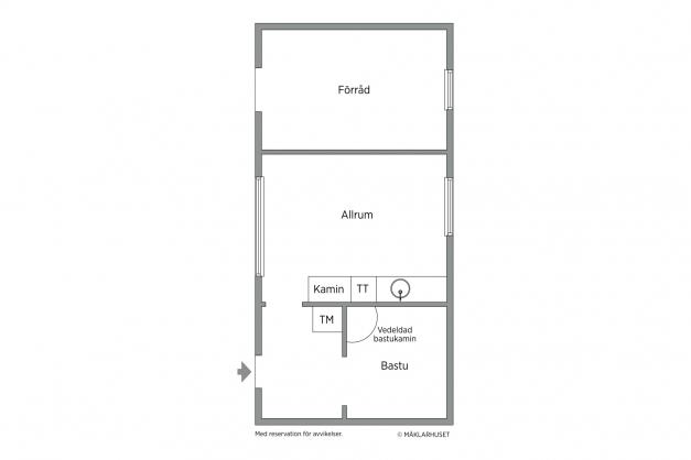 Komplementbyggnad/bastuhus