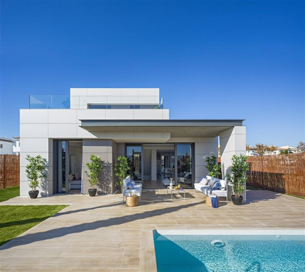 Illustrationsbild - Modern villa