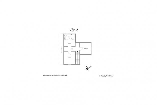 Planlösning Våning 2 OBS! Ej skalenlig