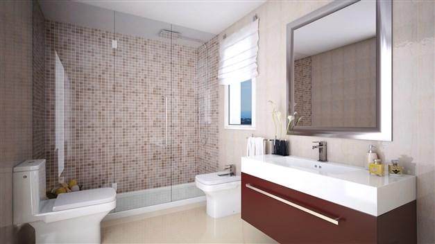Illustrationsbild - Modernt badrum