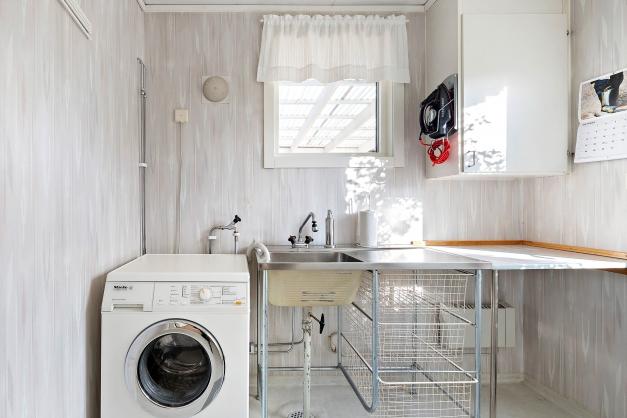 Tvättutrymme med groventré