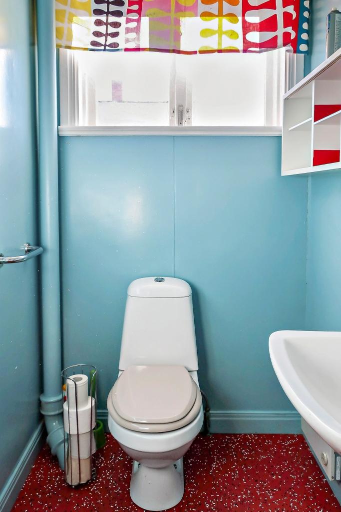Toalett entréplan.