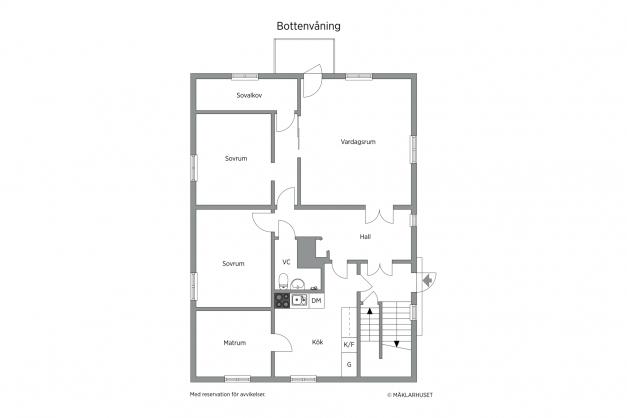 Planlösning lägenhet 1