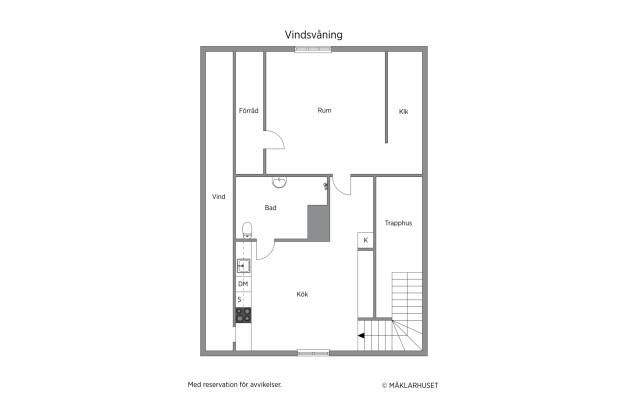 Planlösning lägenhet 3