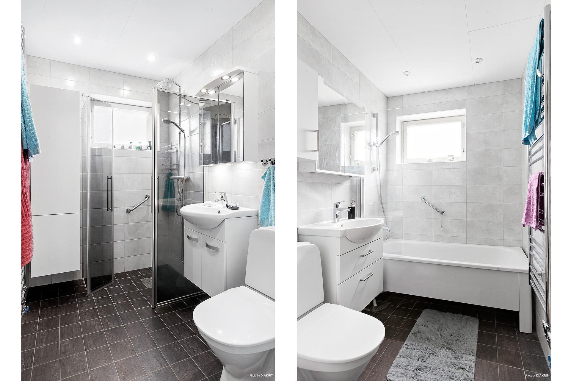 Två stycken badrum