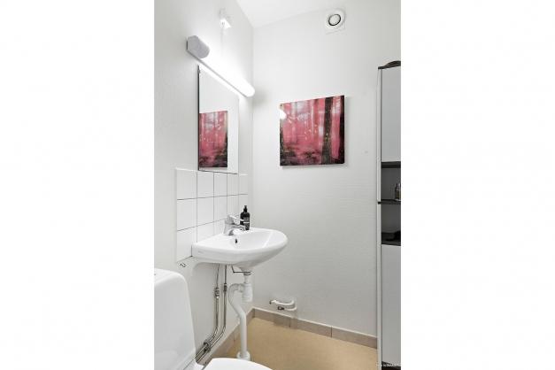 Separat wc i hallen