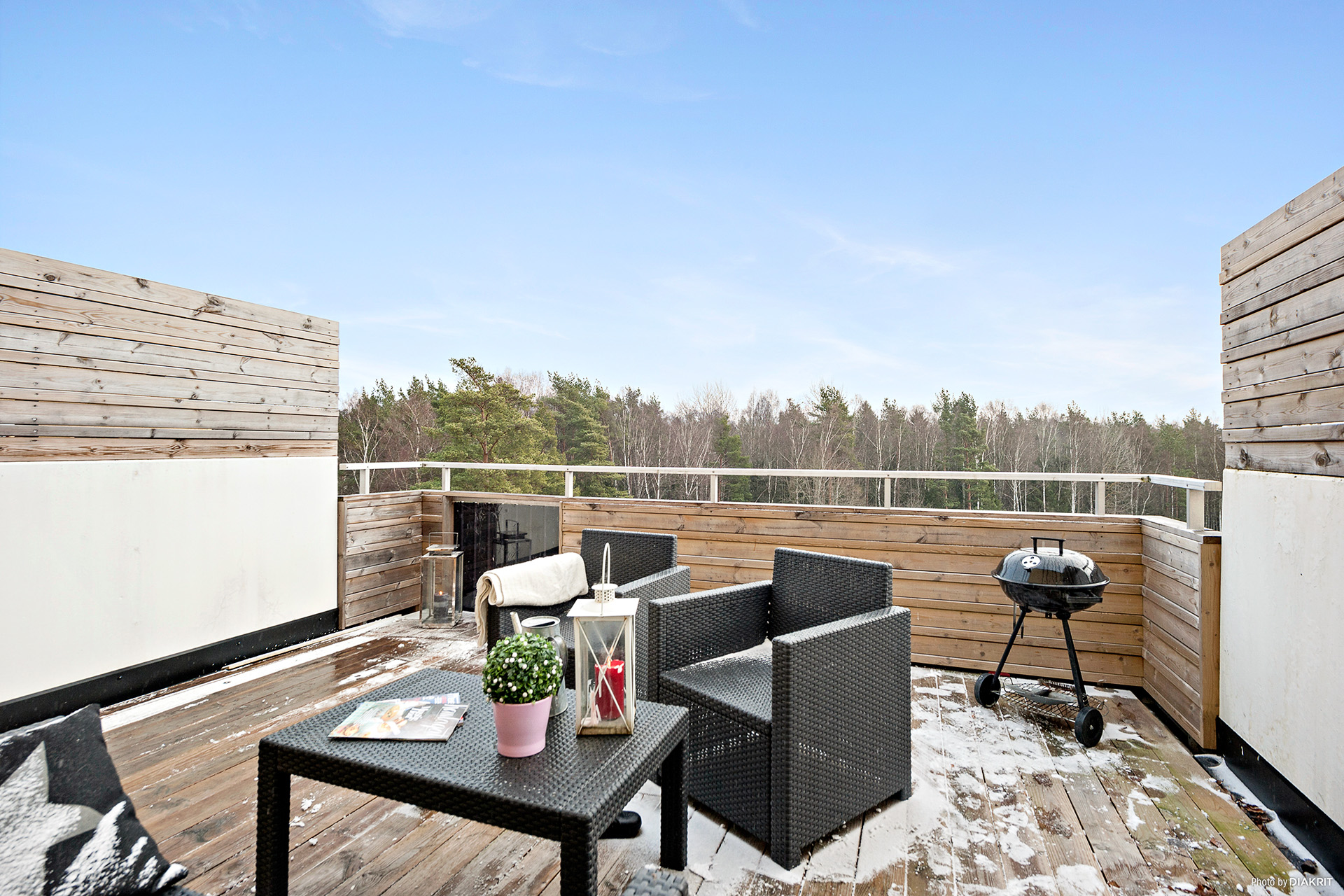 Härlig terrass om 16m²